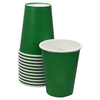 View Green Paper Party Cups 9 Oz