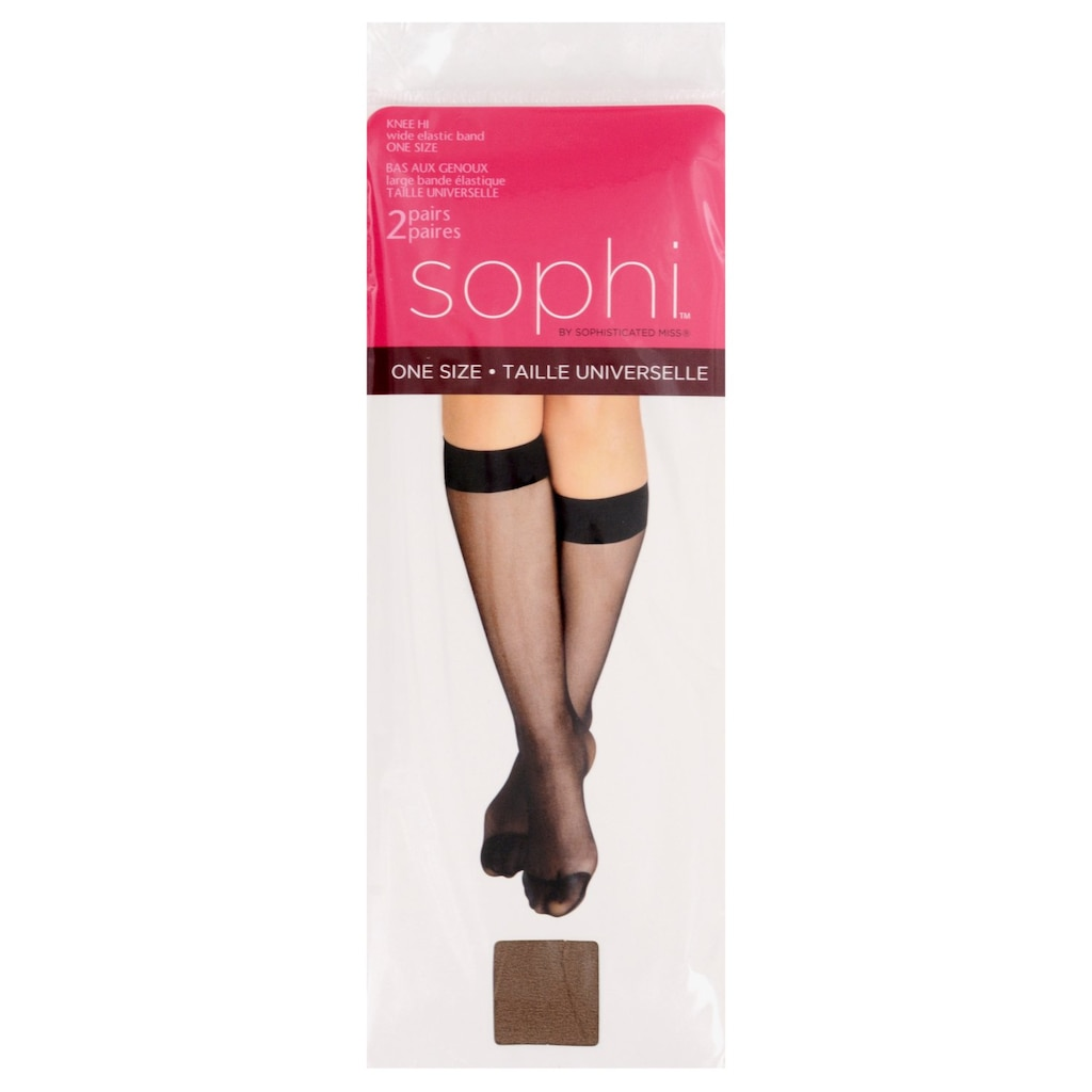 b244cb28777bd9 One Size Beige Knee High Stockings, 2-ct. Packs
