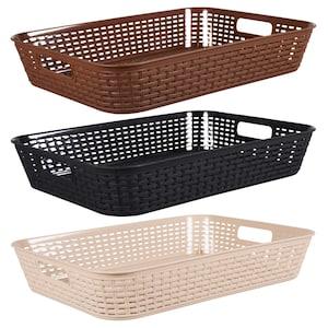 dollartree com rectangular slotted plastic baskets 2 ct packs