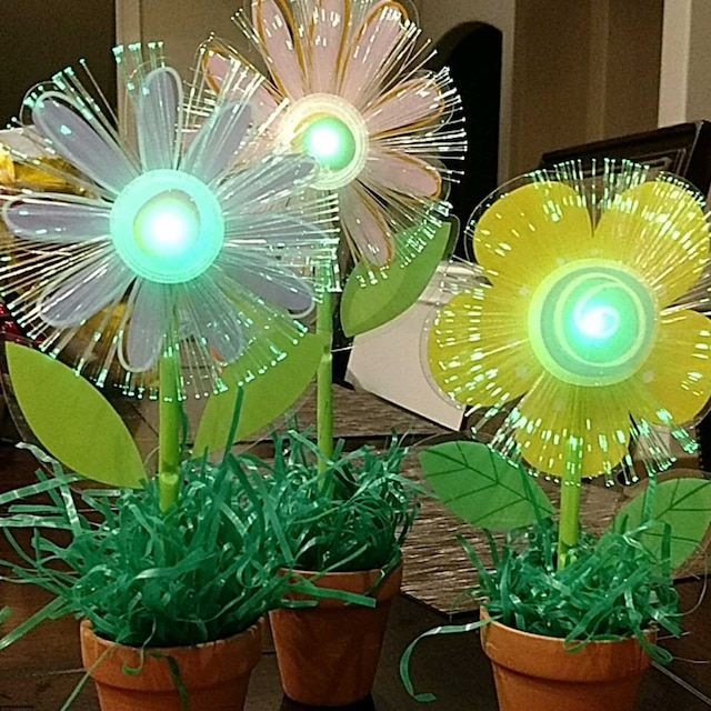 Potted Light Up Flowers