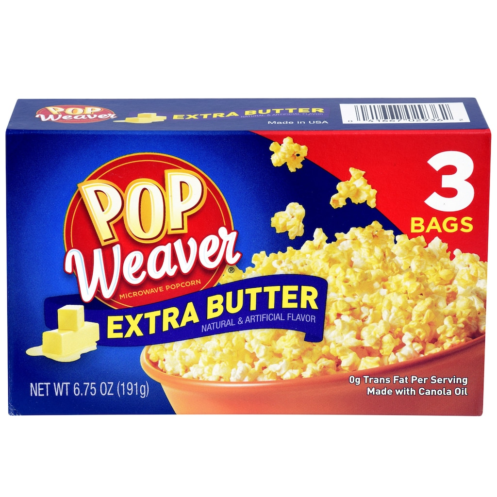 Pop Weaver Microwave Popcorn With Extra Butter