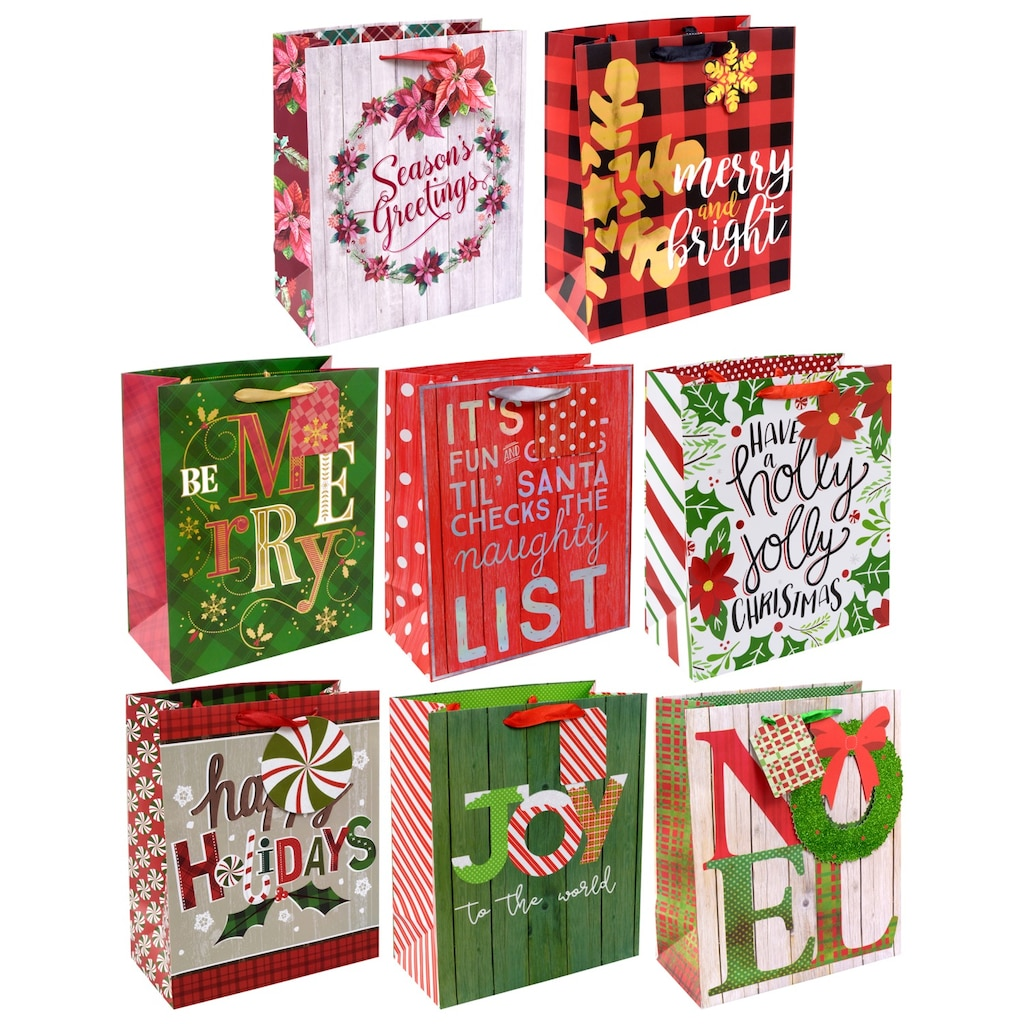 voila large traditional christmas gift bags