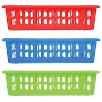 Bulk Rectangular Slotted Plastic Baskets Dollar Tree