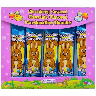 Melster Candies Chocolaty-Covered Chocolate-Flavored Marshmallow Bunnies, 5-ct. Packs Product Image