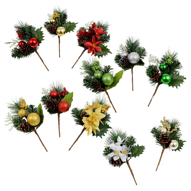 christmas house artificial floral picks