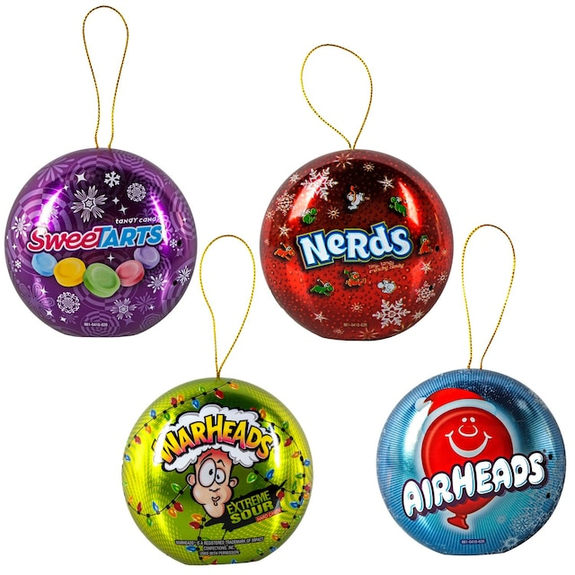 candy filled tin christmas ornaments 5 oz