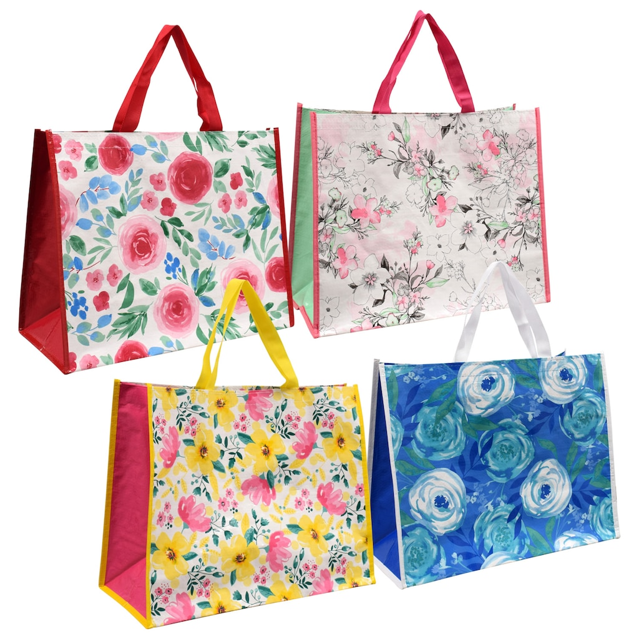 Large Laminated Mandala Fashion Tote Bags