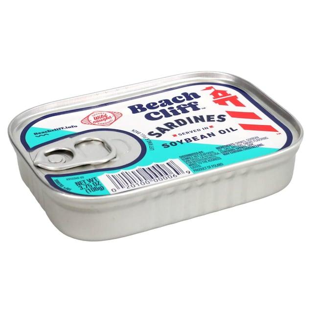 Beach Cliff Sardines in Soybean Oil, 3 75-oz  Cans