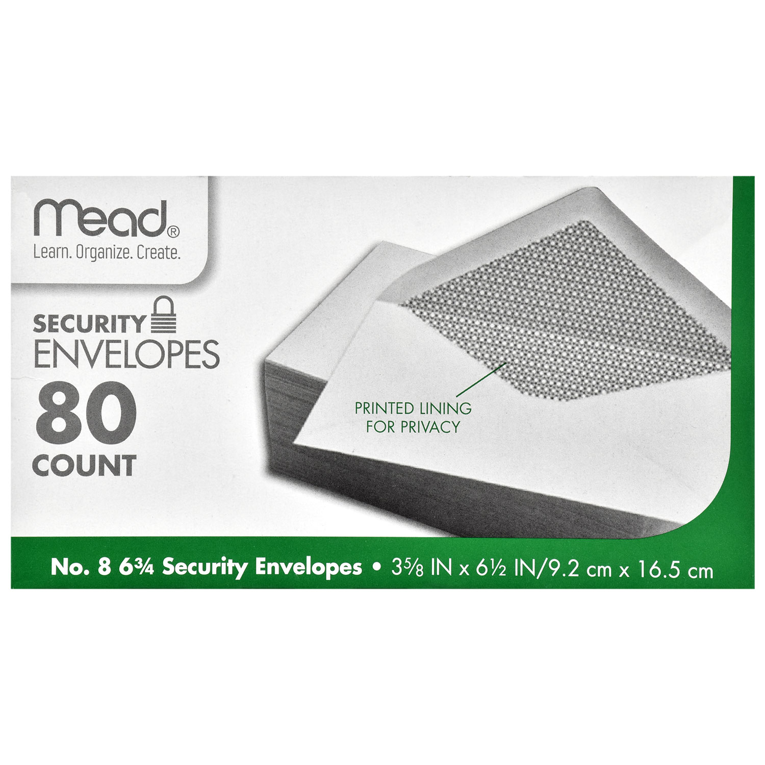View Mead #6 Security Envelopes, 80-ct.