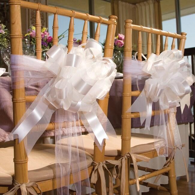 Dollartree Bulk Wedding Idea Tulle Ribbon Bow Chair Decorations