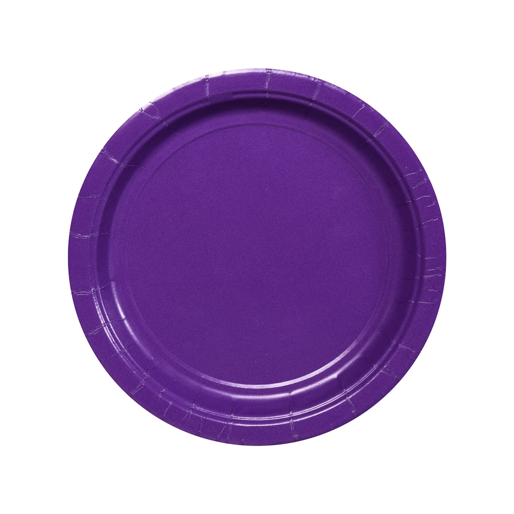 Purple 7-in. Paper Party Plates, 24-ct. Packs