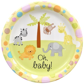Oh Baby Neutral Gender Paper Party Plates, 9 in., 18-ct.