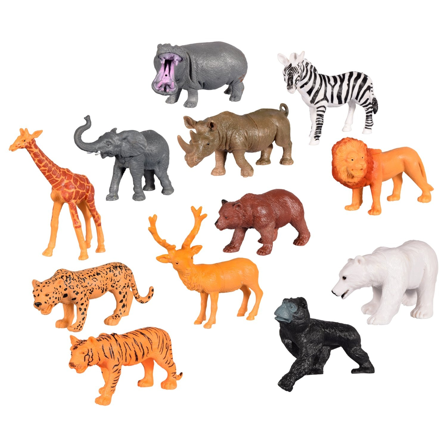 Loyal Wild Animals Toy Model Elephant Lion Zebra Giraffe Jungle Animals Action Figures Collection Model Decoration Baby Children Gift Volume Large Toys & Hobbies