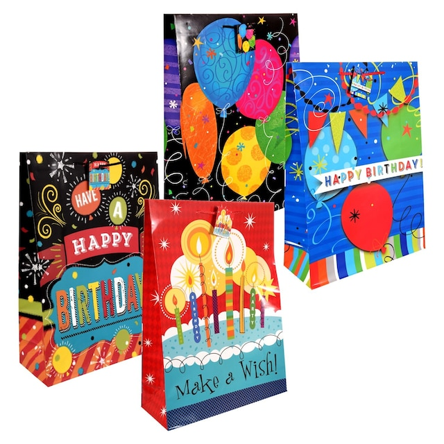 Voila Extra Large Colorful Birthday Gift Bags
