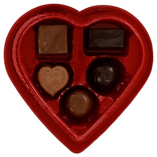 View Colorful Heart-Shaped Boxes of Assorted Chocolates, 2 oz.. Image 3 of 5