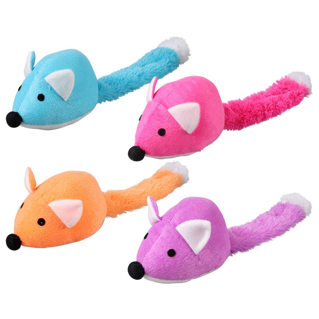 greenbrier kennel club colorful plush fox dog toys 14 in