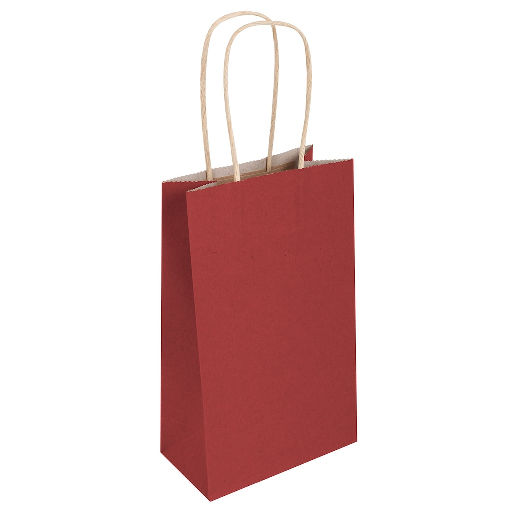 Small Red Kraft Paper Gift Bags 3 Ct Packs