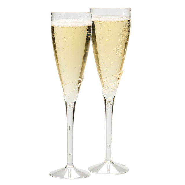 Dollartree 9 In Plastic Champagne Flutes 2 Ct Packs