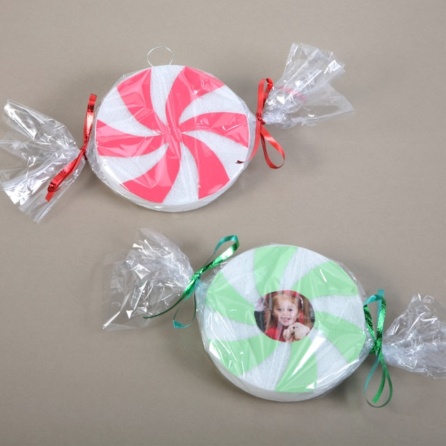 Christmas Craft Idea: Candy Swirl Ornaments