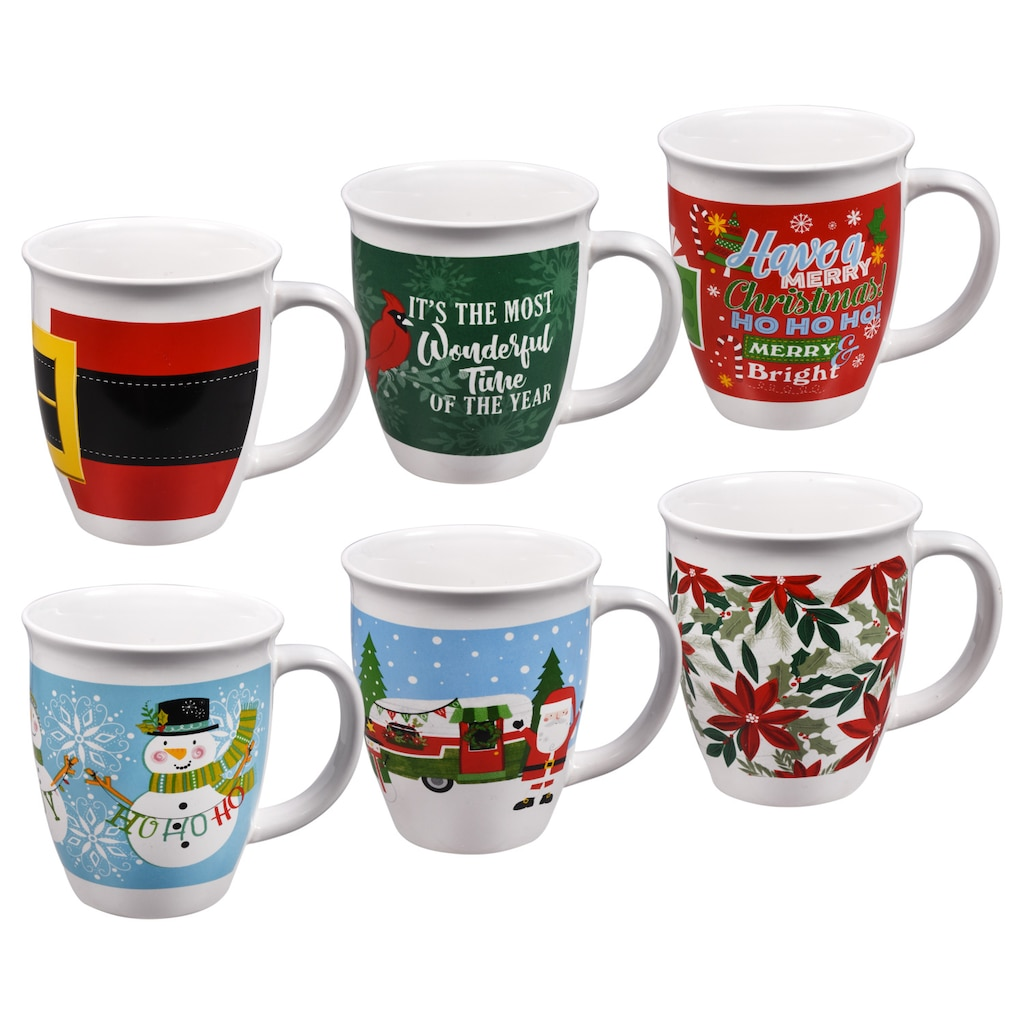 christmas house gift boxed stoneware mugs 14 oz
