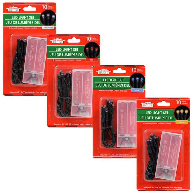 Christmas House 10-Bulb LED Battery-Powered Light Sets - DollarTree.com Bulk Christmas House 10-Bulb LED Battery-Powered