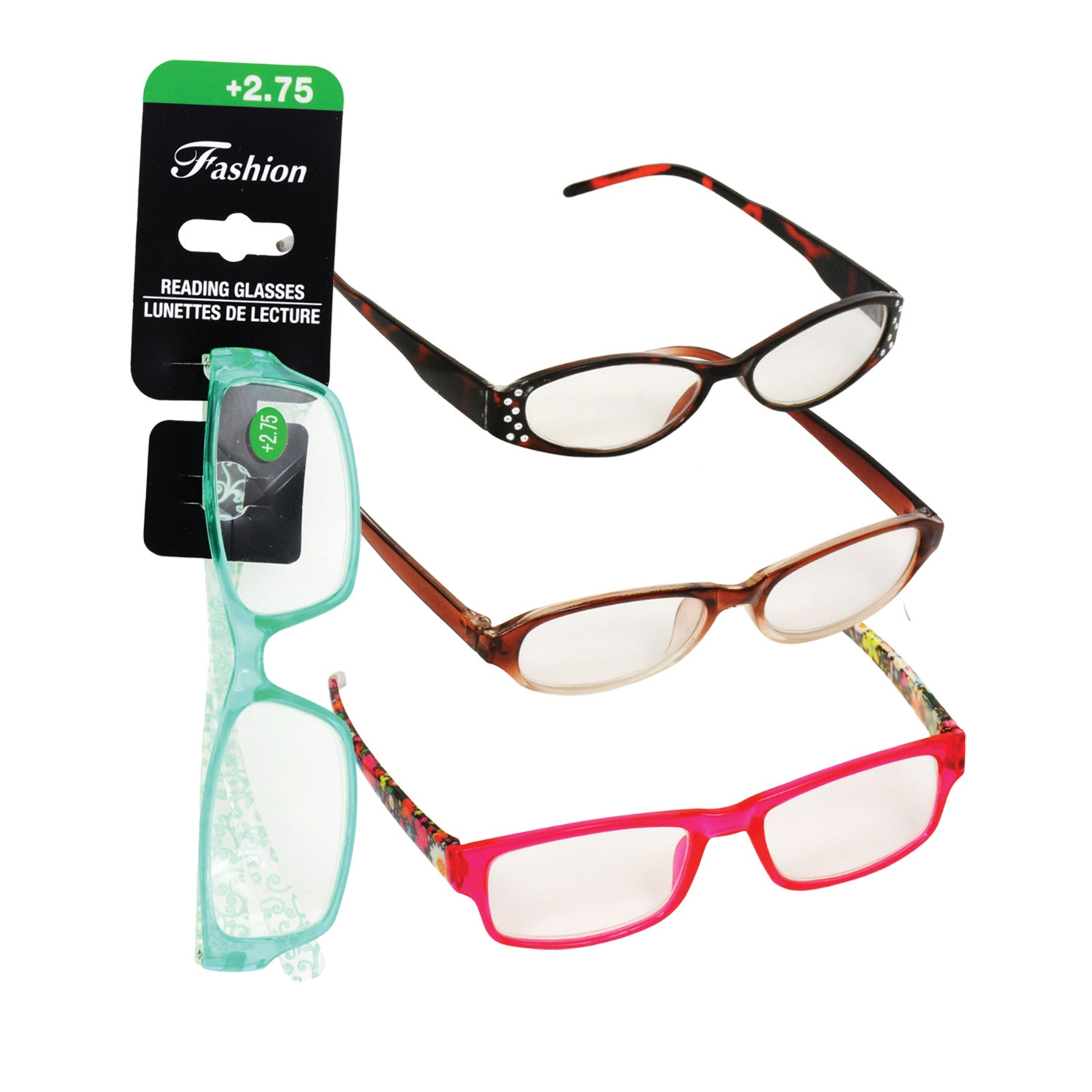 e298175fb488 Stylish Reading Glasses with +2.75 Diopter