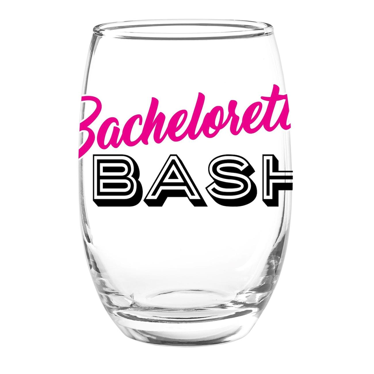 Stemless Bachelorette Bash Wine Gles 15 Oz