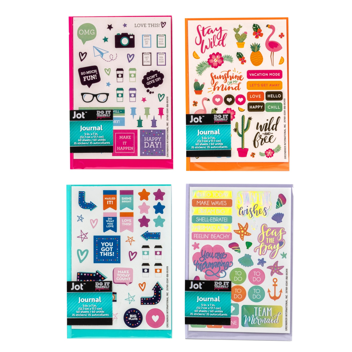 View Jot Journals with DIY Stickers,