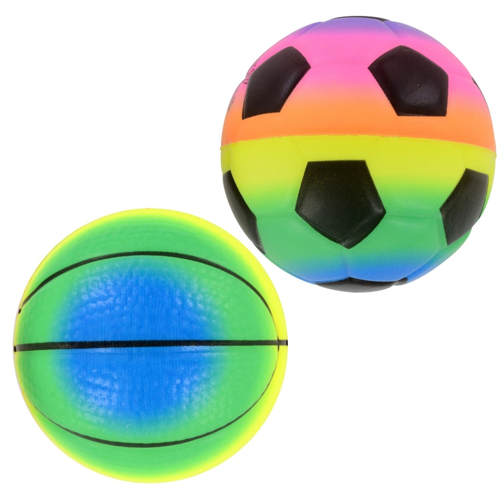 Rainbow Stress Foam Sports Balls