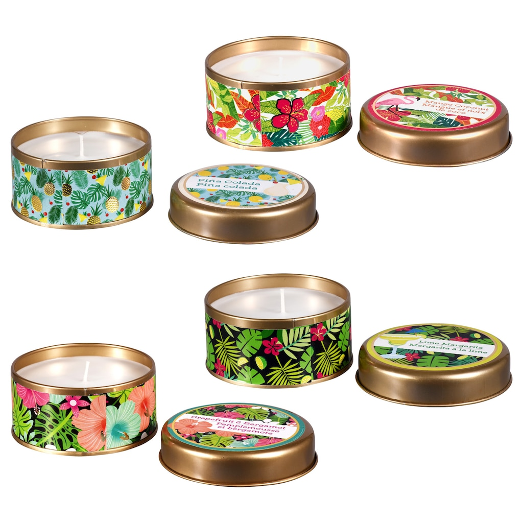 Decorative Tropical Scented Candle Tins