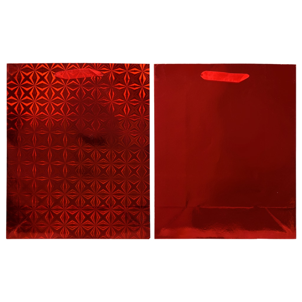 34291e276 Voila Large Red Foil and Holographic Gift Bags