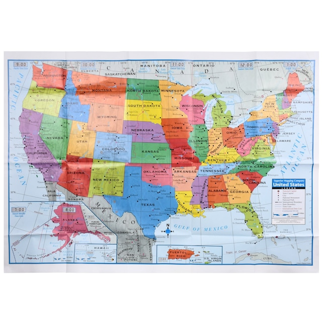 View Map Of United States.Teaching Tree United States Wall Maps