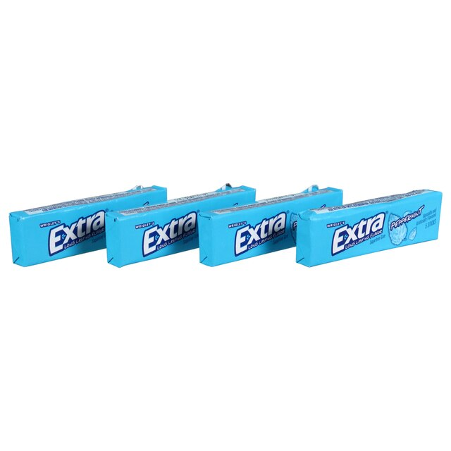 Wrigley's Extra Peppermint Sugarfree Gum, 4-ct  Packs