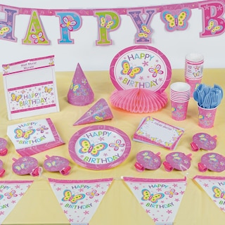 View Happy Birthday Butterfly Paper Party