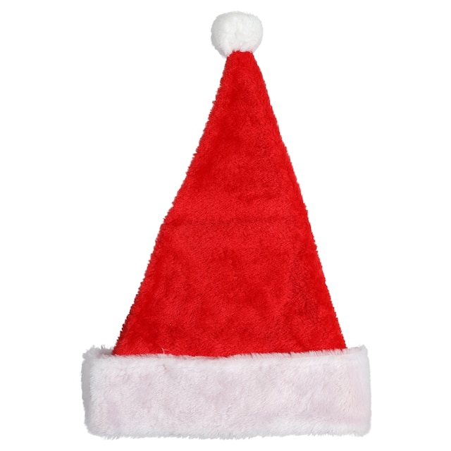 2822e11a59c96 View Christmas House Plush Santa Hats