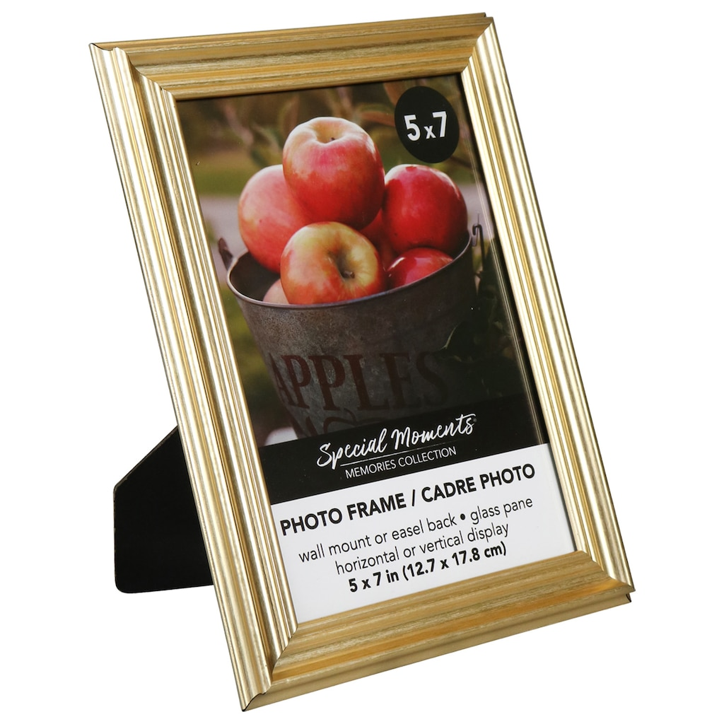 5b1b13edb3b4 Special Moments Gold Plastic Grooved 5x7-in. Photo Frames