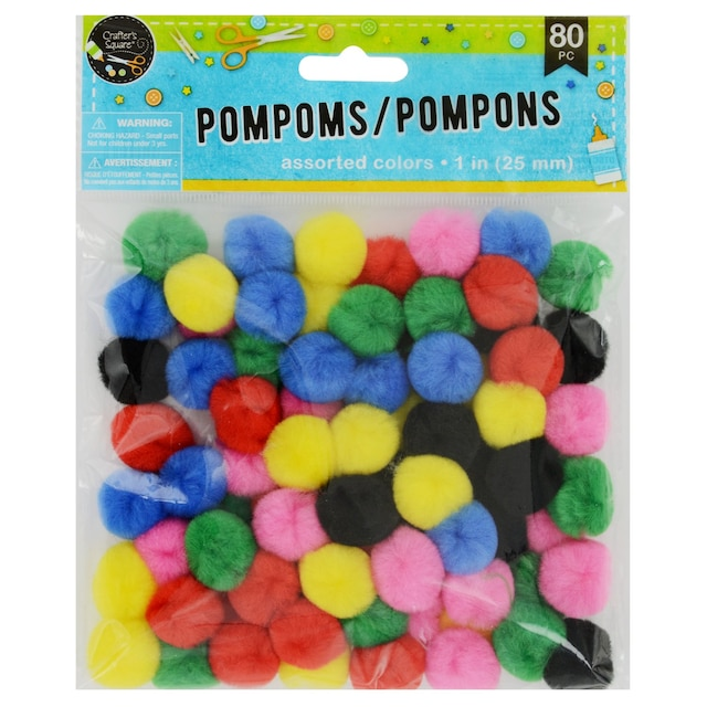 4b1b5181904 View Crafter s Square Multicolored Craft Pom-Poms
