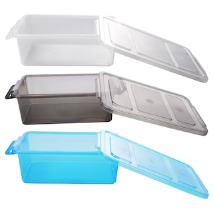 Bulk Translucent Plastic Storage Boxes With Clip Lock Lids 8 75x6 125x2 75 In Dollar Tree