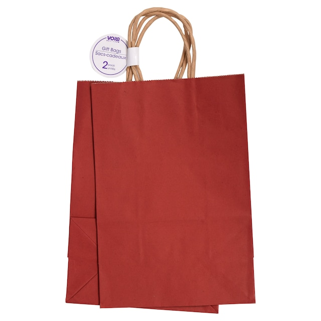 dollartree com medium red kraft paper gift bags 2 ct packs