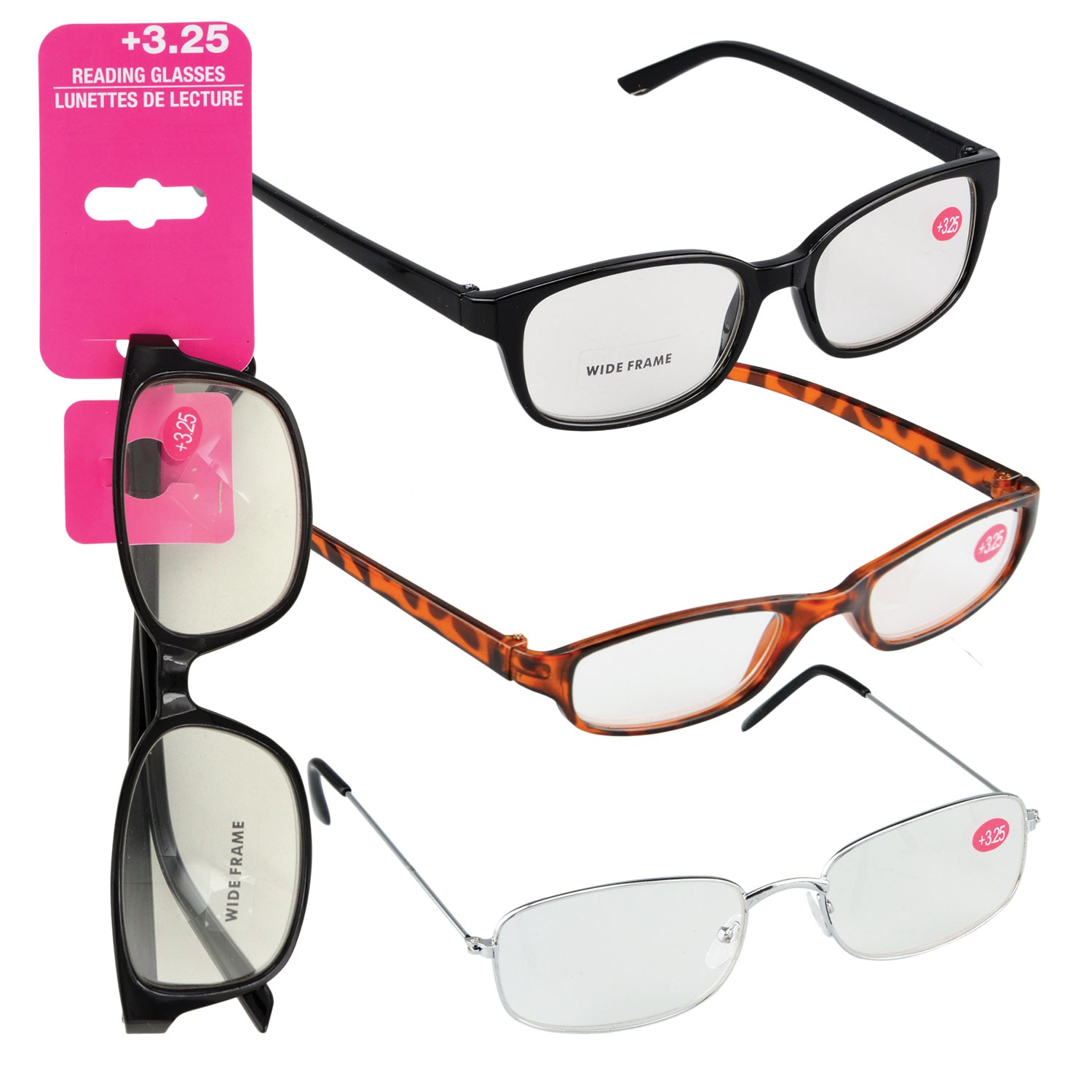 8129791cbf86 Fashion Reading Glasses with +3.25 Diopters