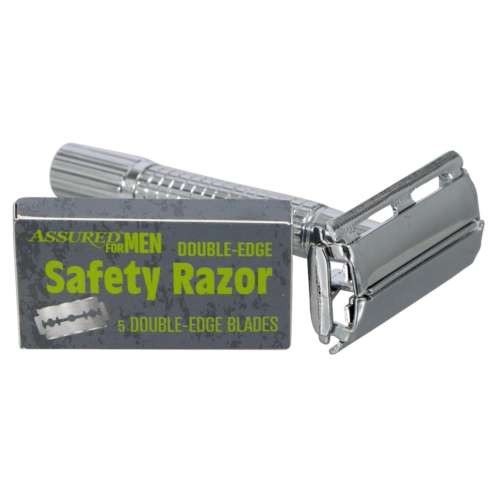 Assured for Men Double-Edge Safety Razors with 5 Blades
