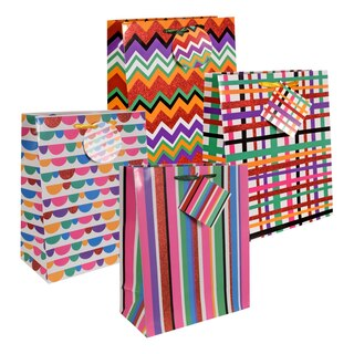 213238 voila bright patterns gift bags