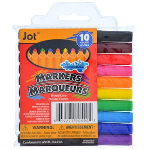 20590 Jot Washable Broadline Markers 10 Ct Packs