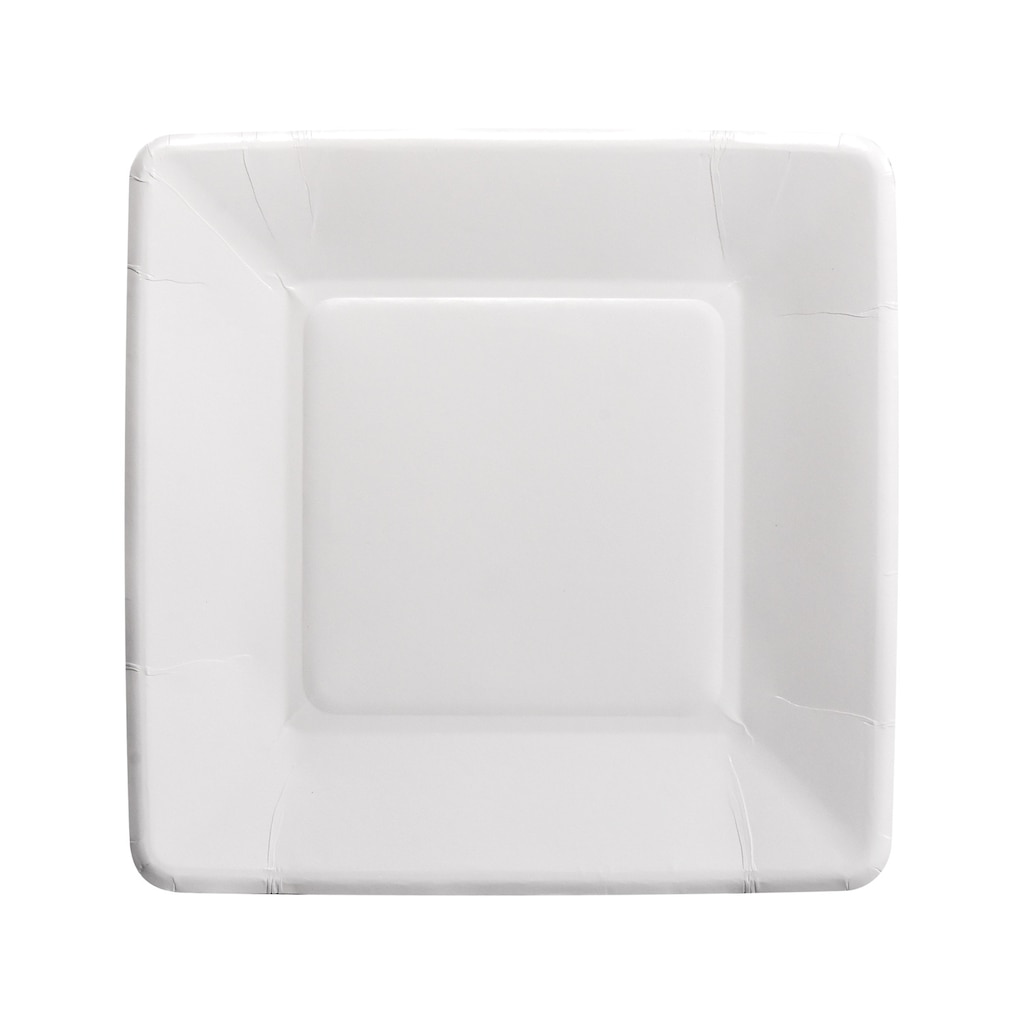 Square White 7 in. Paper Party Plate, 18-ct. Packs