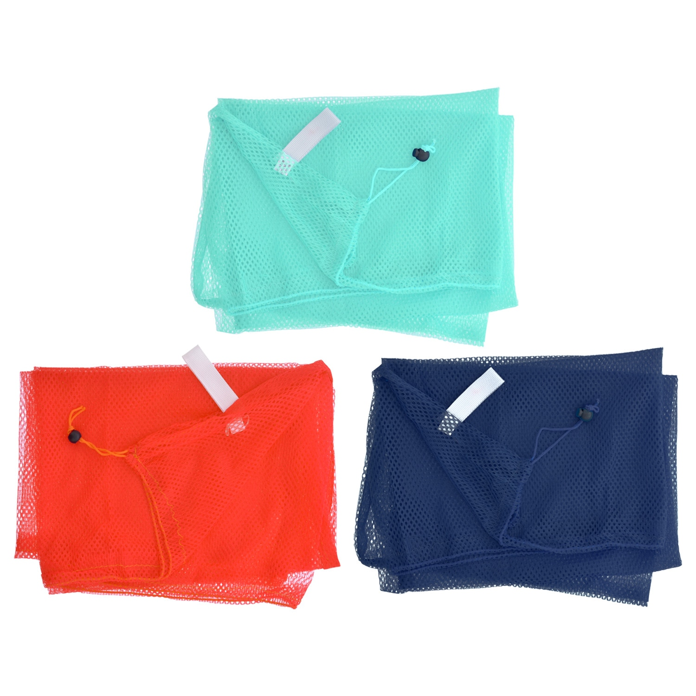 Essentials Colorful Mesh Drawstring Laundry Bags