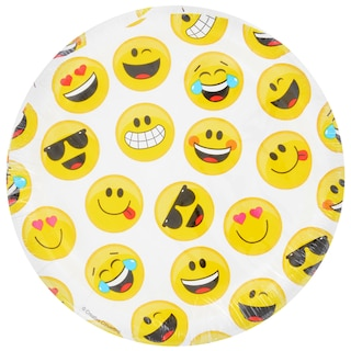 View Emoji Party Paper Plates 7