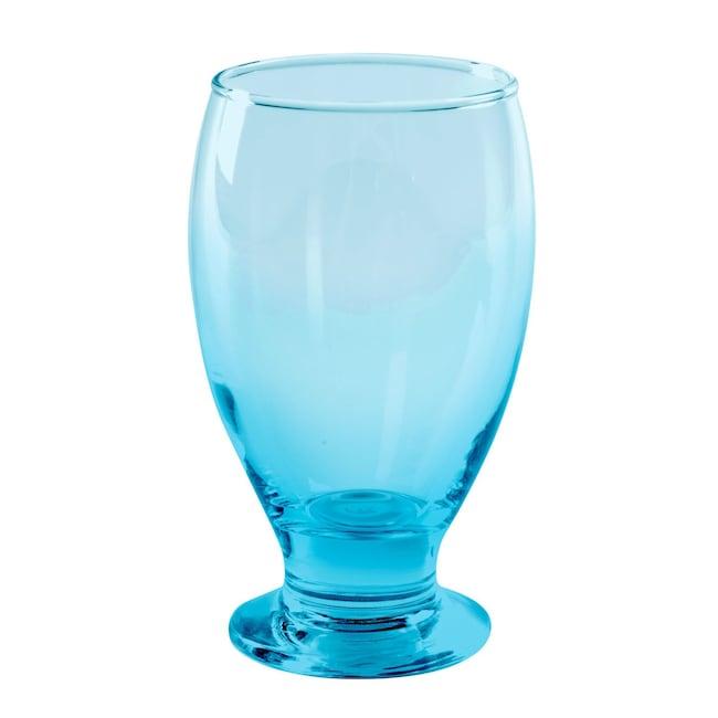 Sky Blue Gl Water Goblets 12 Oz