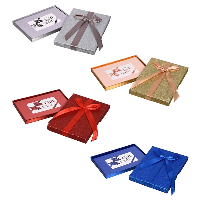 Glittery Gift Card Holders With Bows