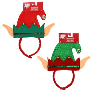 259345-Christmas House Felt Elf Headbands with Bells