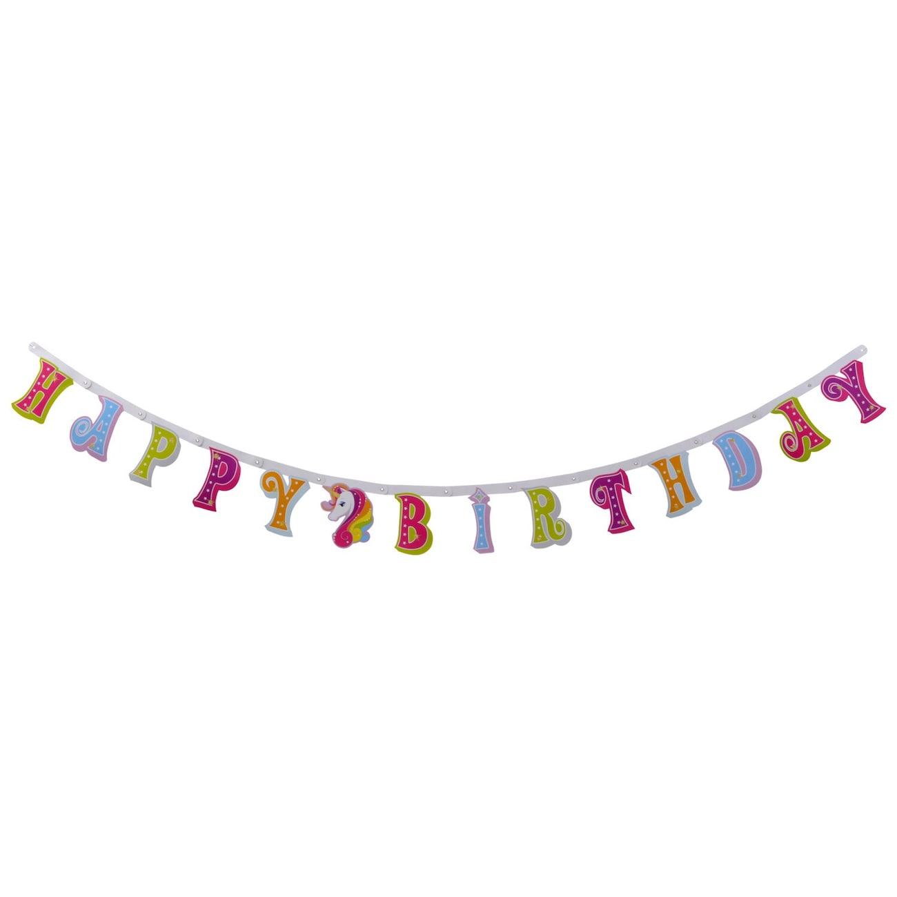 unicorn birthday banners 7 ft